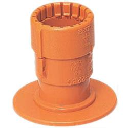 仮枠コネクタ(PC板用・Gタイプ)CD単層波付管28用 50個価格 未来工業 CDHP-28BG