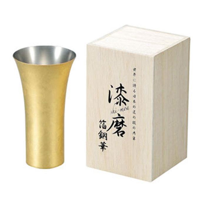 箔銅華 ビアカップ 380ml 取寄品 漆磨 シーマ CNS-L801