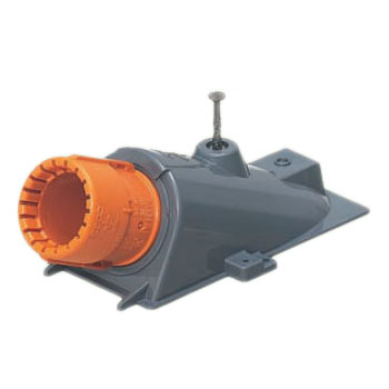 エンドカバー(コンパクト型・スクリュー釘付)CD単層波付管28用 50個価格 未来工業 CDEC-28G