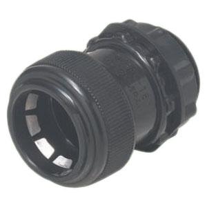 コネクタ(ワンタッチ型)PF管22用 黒 100個価格 未来工業 FPK-22YK