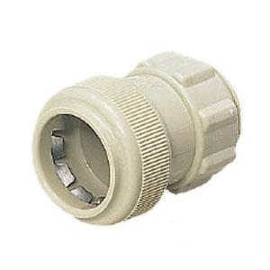 コネクタ(ワンタッチ型)PF管22用 ベージュ 100個価格 未来工業 FPK-22Y