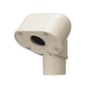 エントランスキャップ(一つ穴)適合管VE36 ミルキーホワイト 10個価格 未来工業 MEC-36AM
