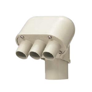 エントランスキャップ(ツバ付)適合管VE36 グレー 10個価格 未来工業 MEC-36T