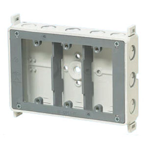 真壁用スイッチボックス(3ヶ用セパレータ付・深さ40mm) 20個価格 未来工業 SM40-3WNFDK