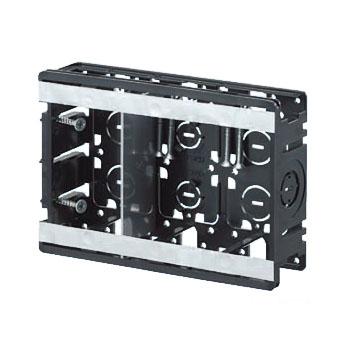 配管スライドボックス(3ヶ用セパレーター付・深さ40mm) 20個価格 未来工業 SB22-3