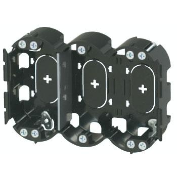 小判穴ホルソー用パネルボックス(3ヶ用セパレーター付・あと付はさみボックス) 10個価格 未来工業 SBP-3G