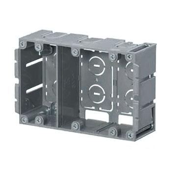 深形パネルボックス(3ヶ用セパレーター付・あと付はさみボックス) 10個価格 未来工業 SBP-3WY
