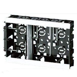 アルミ箔付浅形スライドボックス(3ヶ用セパレータ付・深さ28mm) 20個価格 未来工業 SBS-3W