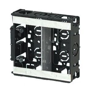 台付スライドボックス(2ヶ用セパレーター付・標準品深さ36mm) 100個価格 未来工業 SBW-M
