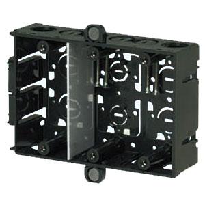 磁石付深形スライドボックス(3ヶ用・深さ45mm) 20個価格 未来工業 SBY-3WG