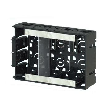 アルミ箔付深形スライドボックス(3ヶ用セパレータ付・深さ45mm) 20個価格 未来工業 SBY-3W