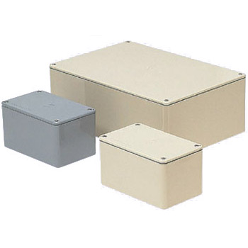 長方形防水プールボックス(平蓋・ノック無)350×300×150mm グレー 1個価格 ※受注生産品 未来工業 PVP-353015A