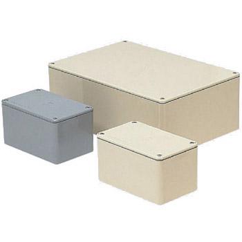 長方形防水プールボックス(平蓋・ノック無)450×200×200mm グレー 1個価格 ※受注生産品 未来工業 PVP-452020A