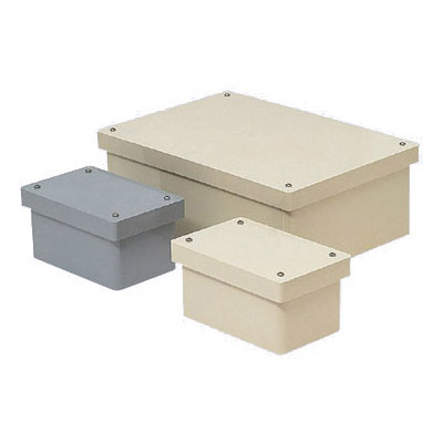 長方形防水プールボックス(カブセ蓋・ノック無)450×400×300mm グレー 1個価格 ※受注生産品 未来工業 PVP-454030B