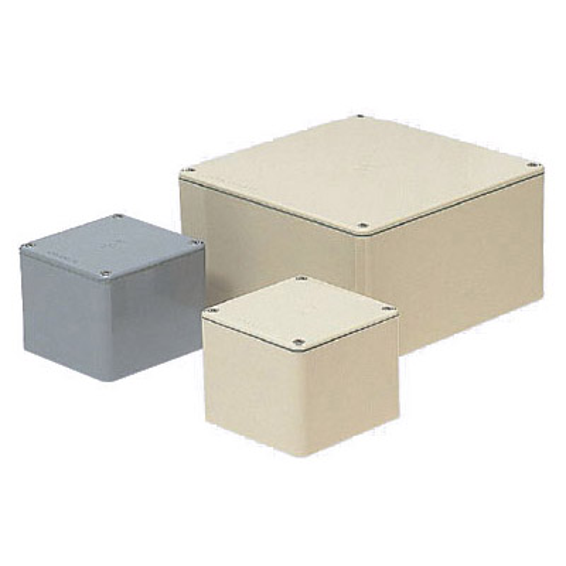 正方形防水プールボックス(平蓋・ノック無) 500×400mm グレー 1個価格 ※受注生産品 未来工業 PVP-5040A