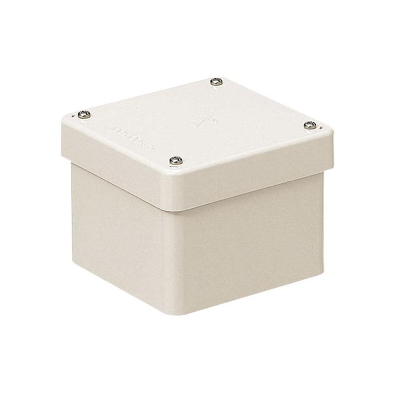 未来工業 正方形防水プールボックス(カブセ蓋・ノック無) ミルキーホワイト 8個価格 PVP-2020BM