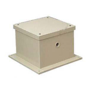 正方形防水液面電極保護ボックス(カブセ蓋・ノック無) 250×200mm ベージュ 1個価格 ※受注生産品 未来工業 PVP-2520BDJ