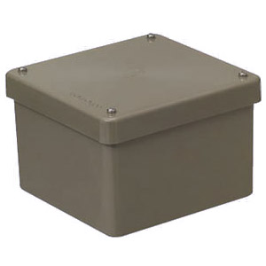 正方形防水プールボックス(カブセ蓋・ノック無) ライトブラウン 1個価格 未来工業 PVP-2520BLB