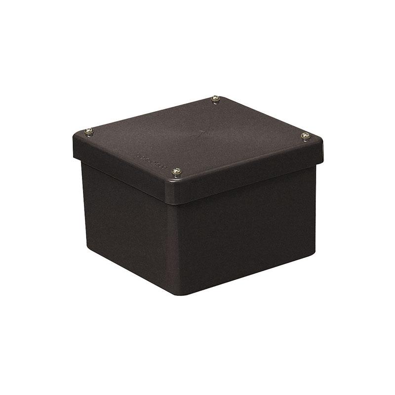 正方形防水プールボックス(カブセ蓋・ノック無)250×250×200mm チョコレート 1個価格 未来工業 PVP-2520BT