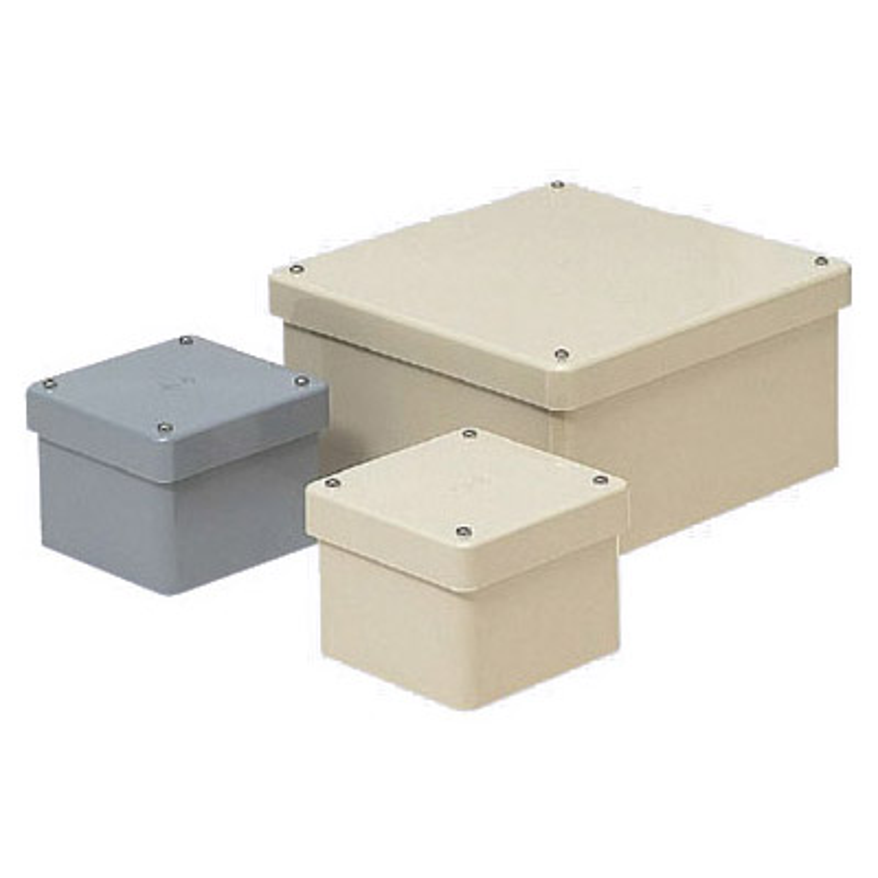 正方形防水プールボックス(カブセ蓋・ノック無)300×300×200mm グレー 2個価格 未来工業 PVP-3020B