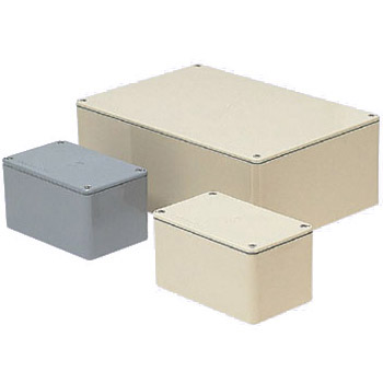 長方形防水プールボックス(平蓋・ノック無)600×300×250mm グレー 1個価格 ※受注生産品 未来工業 PVP-603025A