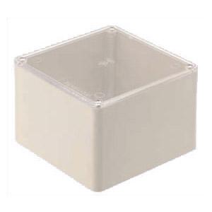 正方形プールボックス(透明蓋・ノック無)200×200×75mm グレー(5個価格) ※受注生産品 未来工業 CPVP-2007