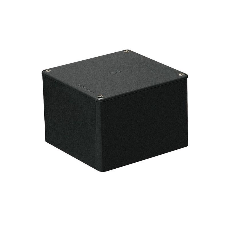 正方形プールボックス(ノック無)100×100×100mm ブラック 10個価格 未来工業 PVP-1010K