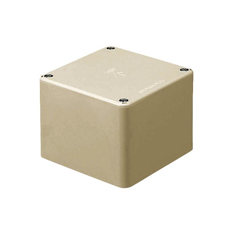 正方形プールボックス(ノック無)120×120×80mm ベージュ 10個価格 未来工業 PVP-1208J