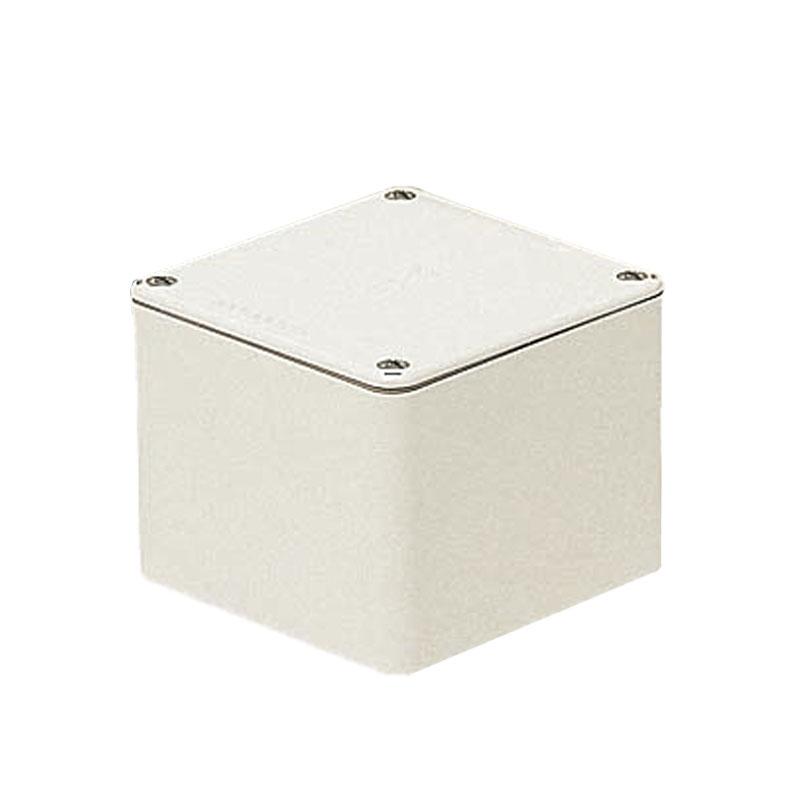 正方形防水プールボックス(平蓋・ノック無)250×250×200mm ミルキーホワイト 2個価格 未来工業 PVP-2520AM