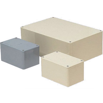 長方形プールボックス(ノック無)450×200×200mm グレー(1個価格) ※受注生産品 未来工業 PVP-452020
