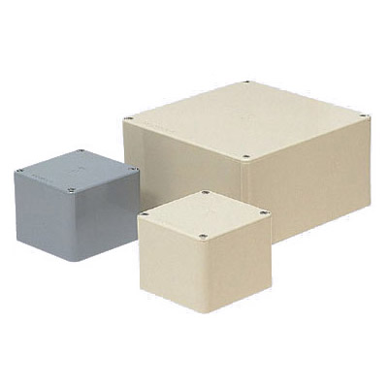 正方形プールボックス(ノック無)450×450×300mm グレー(1個価格) ※受注生産品 未来工業 PVP-4530