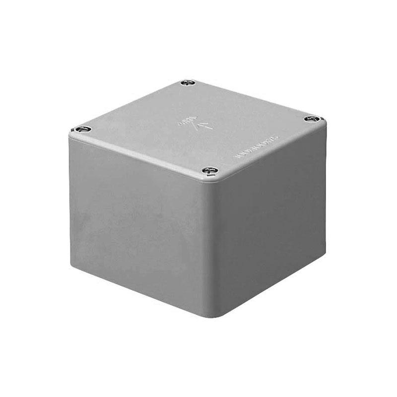 正方形プールボックス(ノック無)450×450×450mm グレー(1個価格) ※受注生産品 未来工業 PVP-4545