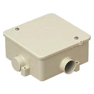 アウトレットボックス(蓋付)VE22(1~4方出兼用)ベージュ 50個価格 未来工業 PVK-22J
