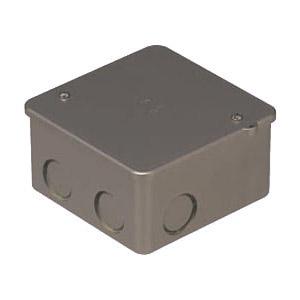 PVKボックス(中形四角浅型・ノック付)シャンパンゴールド 50個価格 未来工業 PVK-ANCG