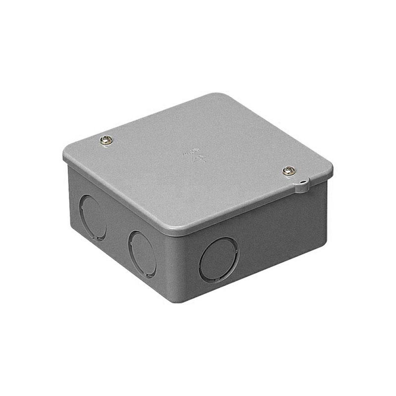 PVKボックス(中形四角浅型・ノック付)グレー 50個価格 未来工業 PVK-AN