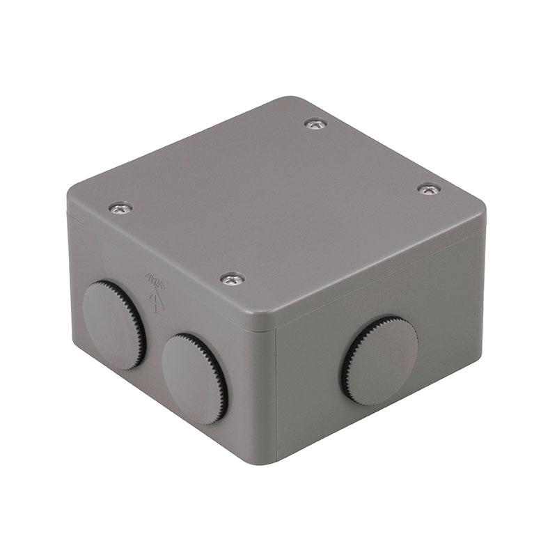 PVKボックス(防水型・おねじキャップ付)中形四角浅型 グレー 20個価格 未来工業 PVK-BNP