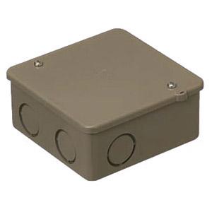 PVKボックス(中形四角深型・ノック無)ライトブラウン PVK-BOLB 50個価格 未来工業 PVK-BOLB