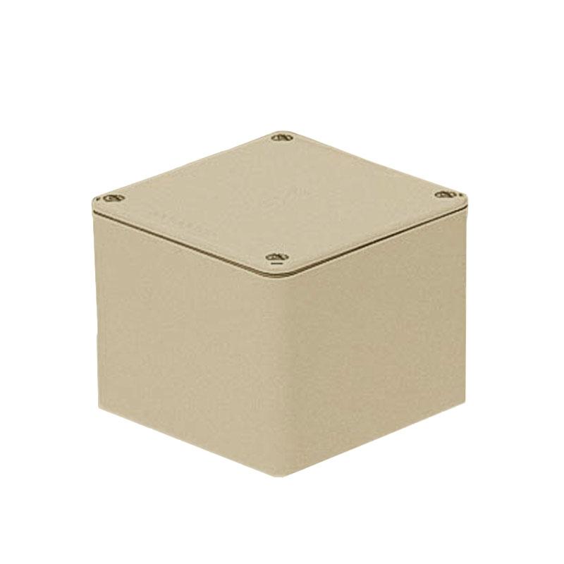 正方形防水プールボックス(平蓋・ノック無)100×100×100mm ベージュ 8個価格 未来工業 PVP-1010AJ
