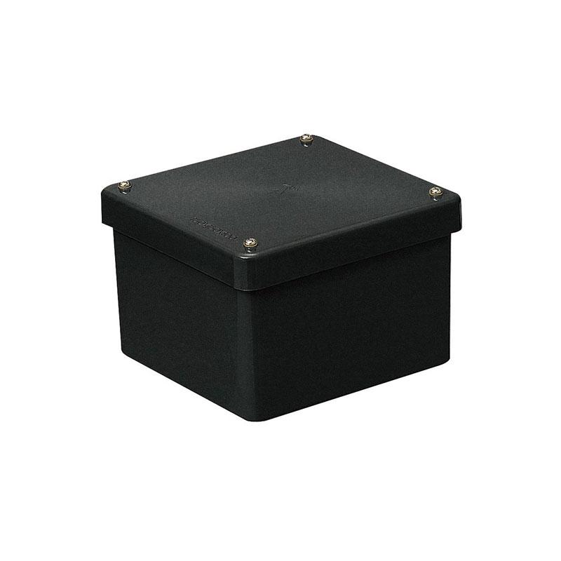 未来工業 正方形防水プールボックス(カブセ蓋・ノック無)100×100×100mm ブラック 8個価格 PVP-1010BK
