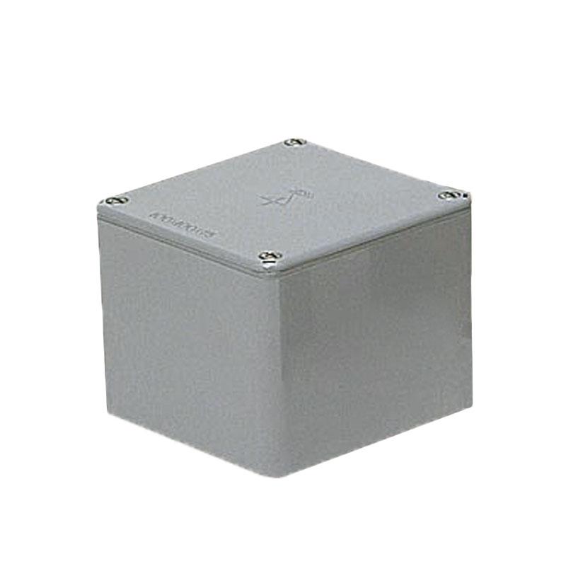 正方形防水プールボックス(平蓋・ノック無)120×120×80mm グレー 8個価格 未来工業 PVP-1208A