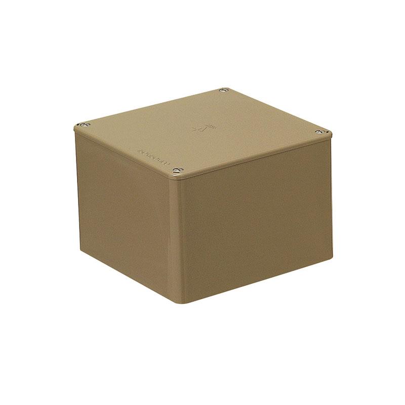 正方形プールボックス(ノック無)120×120×80mm ライトブラウン 10個価格 未来工業 PVP-1208LB