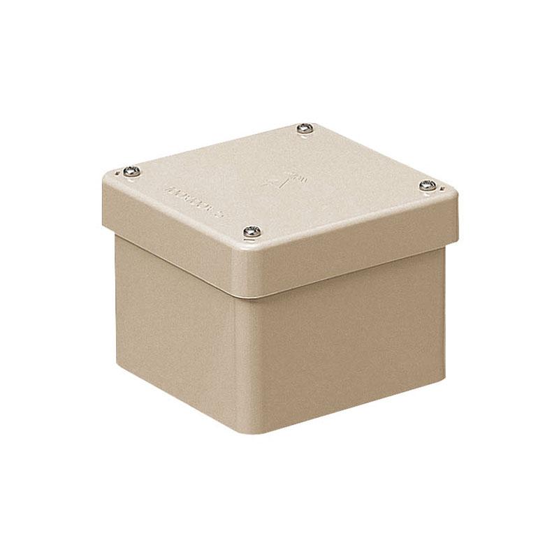 正方形防水プールボックス(カブセ蓋・ノック無)150×150×75mm ベージュ 8個価格 未来工業 PVP-1507BJ