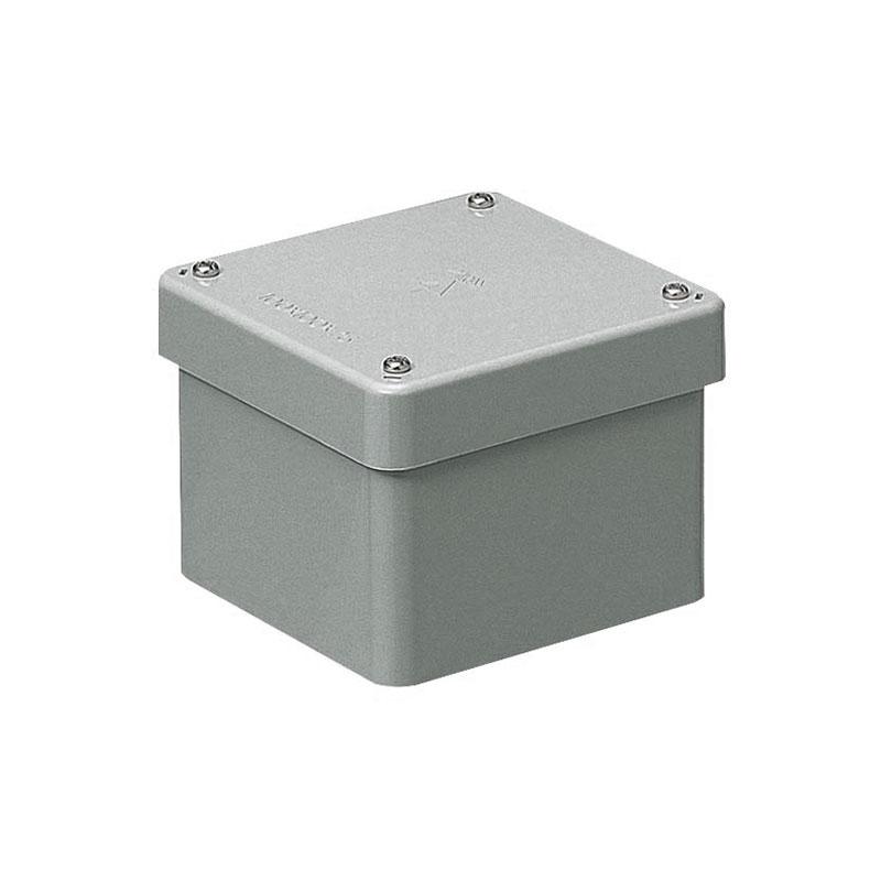 正方形防水プールボックス(カブセ蓋・ノック無)150×150×100mm グレー 8個価格 未来工業 PVP-1510B