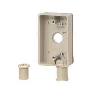 外かべボックス(コネクタ付)適合管VE16 グレー 20個価格 未来工業 SBR-B16VT