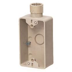 露出スイッチボックス(Gタイプ・1ヶ用・1方出)PF管28用 ベージュ 20個価格 未来工業 SW1-28FG