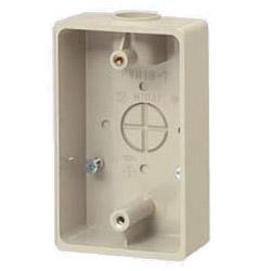 未来工業 露出スイッチボックス(1方出)適合管VE14・16 ベージュ 50個価格 PVR16-1J