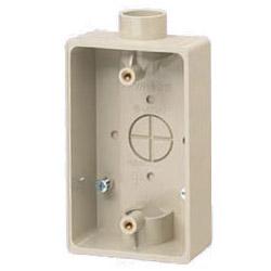 未来工業 露出スイッチボックス(1・2方出兼用)適合管VE14・16 ベージュ 50個価格 PVR16-2J