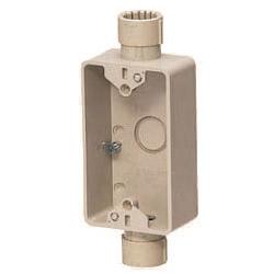 露出スイッチボックス(Gタイプ・1ヶ用・2方出)PF管28用 ベージュ 20個価格 未来工業 SW2S-28FG