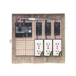 屋外電力用仮設ボックス(ベージュ色)感度電流30mA 1個価格 未来工業 12-3C