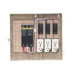 屋外電力用仮設ボックス(ベージュ色)感度電流30mA 1個価格 未来工業 13-3C
